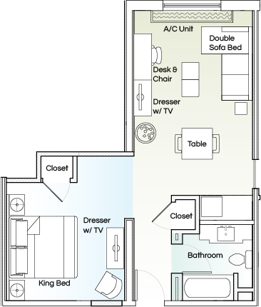 The Kenilworth Executive King Suite room plan